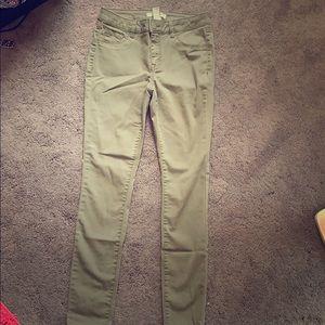 Green skinny jeans (never worn)